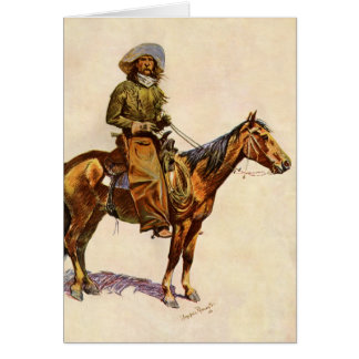 Vintage Western, An Arizona Cowboy by Remington Card