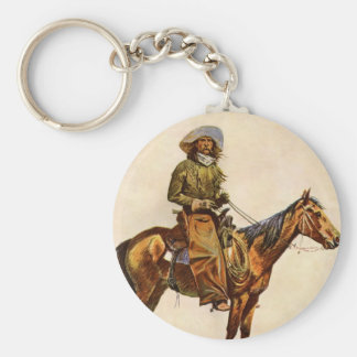 Vintage Western, An Arizona Cowboy by Remington Key Ring