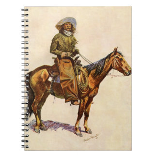 Vintage Western, An Arizona Cowboy by Remington Spiral Notebook