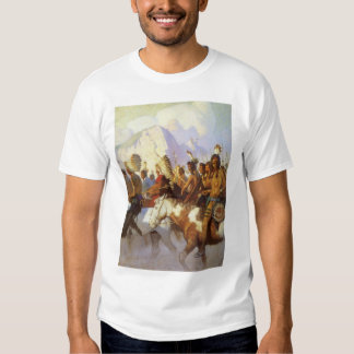 Vintage Western Art, Indian War Party by NC Wyeth T Shirt