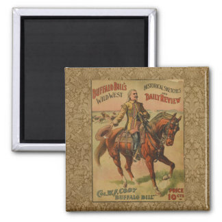 Vintage Western Buffalo Bill Wild West Show Poster Fridge Magnets