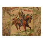 Vintage Western Buffalo Bill Wild West Show Poster Postcard