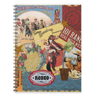 vintage western collage notebook