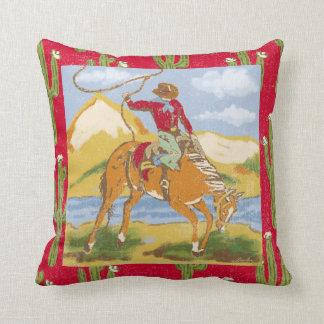 Vintage Western Cowboy Cushion