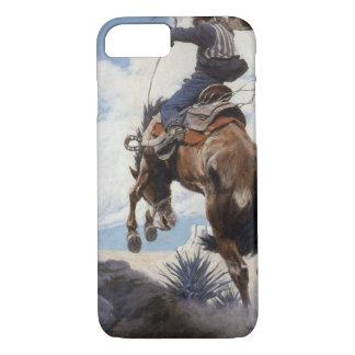 Vintage Western Cowboys, Bucking by NC Wyeth iPhone 8/7 Case