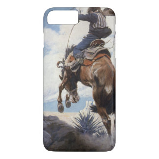 Vintage Western Cowboys, Bucking by NC Wyeth iPhone 8 Plus/7 Plus Case