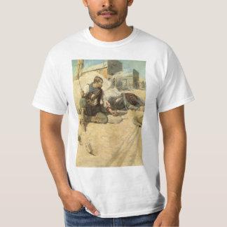 Vintage Western Cowboys, Hopalong by NC Wyeth Tshirts
