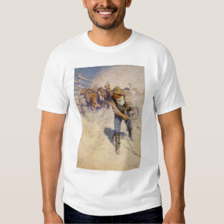 Vintage Western Cowboys, In the Corral by NC Wyeth T Shirts