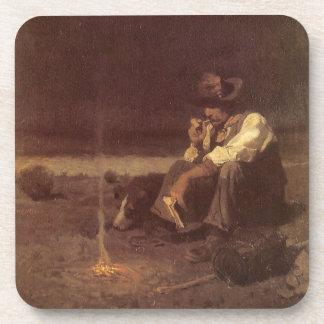 Vintage Western Cowboys, Plains Herder by NC Wyeth Coaster