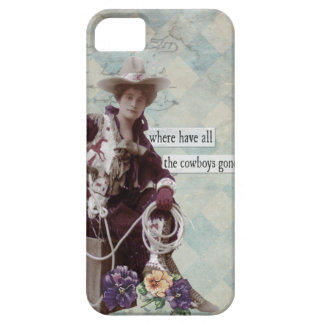 Vintage Western Cowgirl IPhone 5 Case