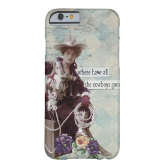 Vintage Western Cowgirl iPhone 6 case