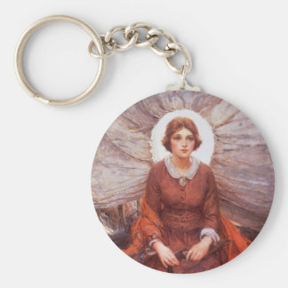 Vintage Western, Madonna of the Prairie by Koerner Key Ring