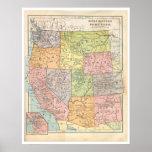 Vintage Western States Map