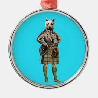 Vintage Westie Christmas Ornament