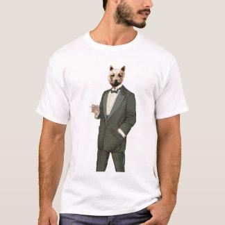Vintage Westie in Tuxedo with Black Tie T-Shirt