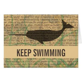 Vintage Whale Greeting Card Custom Template