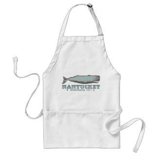 Vintage Whale Nantucket MA Inc 1671 Apron