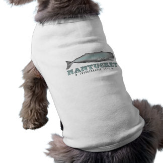 Vintage Whale Nantucket MA Inc 1671 Dog Shirt