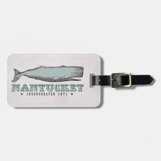 Vintage Whale Nantucket MA Inc 1671 Luggage Tag