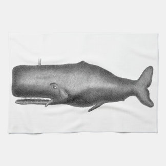 Vintage Whale Tea Towel