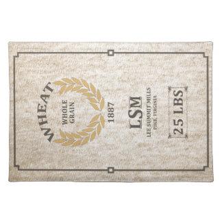 Vintage Wheat Sack Placemat