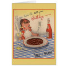 Vintage Whimsical Birthday Greeting Card