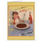 Vintage Whimsical Birthday Greeting Card