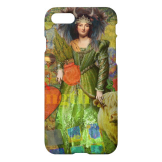 Vintage Whimsical Taurus Woman Collage Fantasy iPhone 7 Case