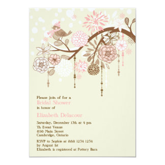 Vintage Whimsical Winter Bridal Shower Invitation