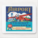 Vintage Whiskey Food Product Label Mousepad