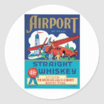 Vintage Whiskey Food Product Label Round Sticker