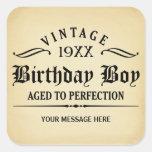 Vintage Whiskey Person Funny Birthday Sticker