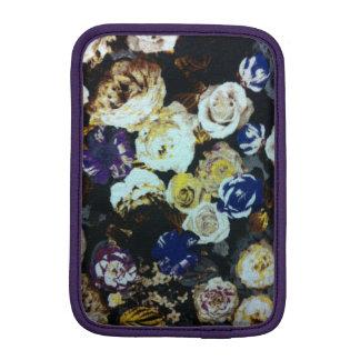 Vintage White and Blue Flowers iPad Mini Vertical iPad Mini Sleeve