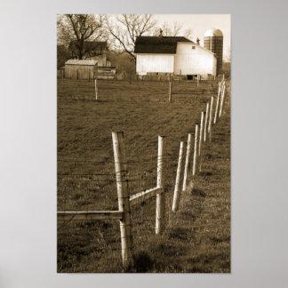 Vintage White Barn Poster