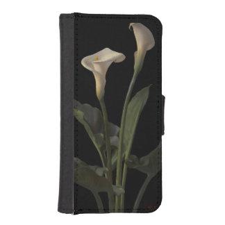 Vintage White Calla Lilies iPhone SE/5/5s Wallet Case