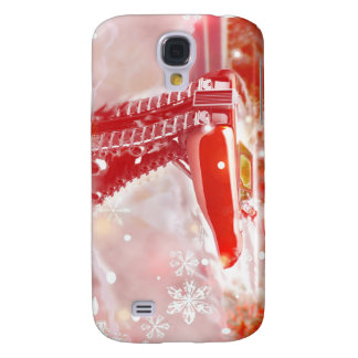 Vintage White Christmas Samsung Galaxy S4 Cases