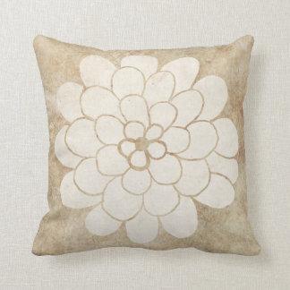 Vintage White Dahlia Floral Wedding Cushion