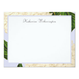 Vintage White Hydrangea Personalised Note Cards