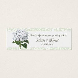 Vintage White Hydrangea Wedding Favor Tag