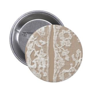 Vintage White Lace 6 Cm Round Badge