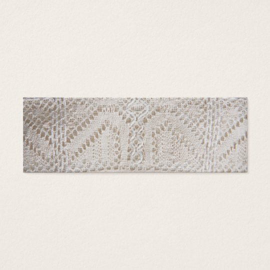 Vintage white lace mini business card