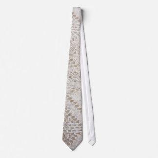 Vintage white lace tie