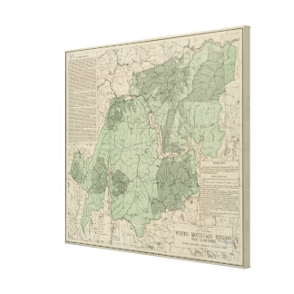 Vintage White Mountains New Hampshire Map (1915) Canvas Print