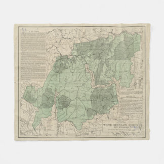 Vintage White Mountains New Hampshire Map (1915) Fleece Blanket