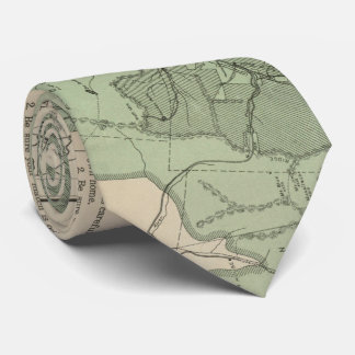 Vintage White Mountains New Hampshire Map (1915) Tie