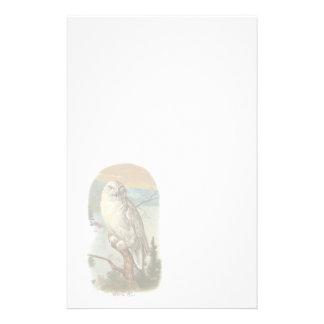 Vintage White Owl Stationery