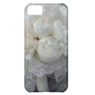 Vintage White Peonies Bridal Bouquet Case For iPhone 5C
