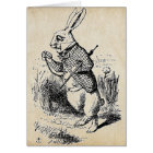 Vintage White Rabbit Card