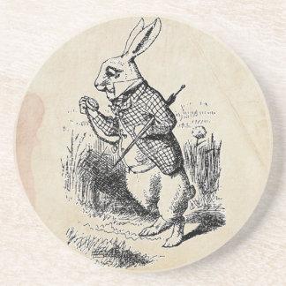Vintage White Rabbit Coaster