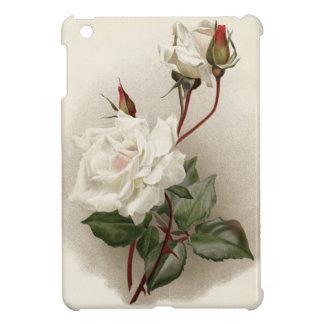 Vintage White Rose iPad Mini Covers